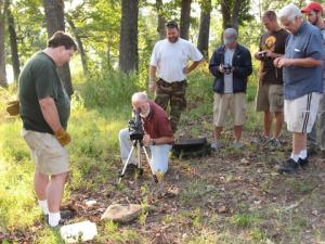 Photographing a pigmy rattlesnake