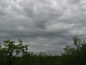 An overcast sky